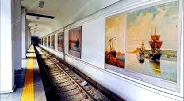 Έργο του, στο Μετρό του Πειραιά από τον σπουδαίο Καλαματιανό ζωγράφο Σωτήρη Τζαμουράνη