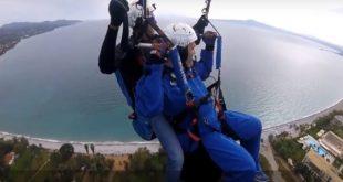 Παραπέντε: Πτήση με αλεξίπτωτο πλαγιάς διασχίζοντας την πανέμορφη Καλαμάτα (video)