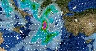 Η «Πηνελόπη» έρχεται και θα σαρώσει την χώρα έως την Πέμπτη! – Καταιγίδες, χαλάζι και χιόνι!