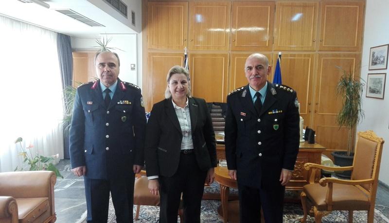 Ο νέος Γενικός Περιφερειακός Αστυνομικός Διευθυντής Πελοποννήσου επισκέφτηκε την Aντιπεριφερειάρχη Π.Ε. Μεσσηνίας Ελένη Αλειφέρη 1