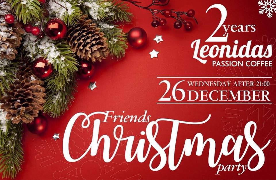 Το 1ο friends Christmas Party είναι γεγονός.... Leonidas Passion Coffee 2