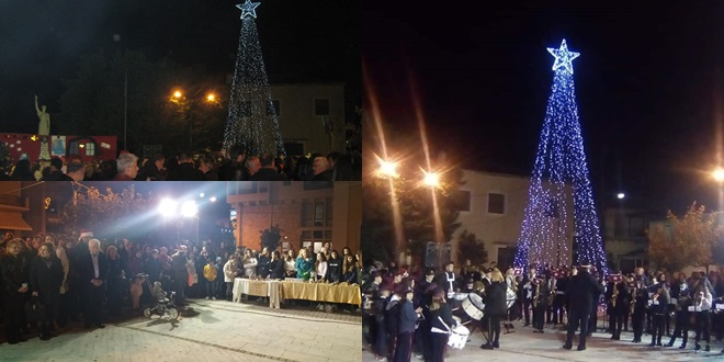 Φωταγώγηση του Χριστουγεννιάτικου Δέντρου στον Δήμο Οιχαλίας 13