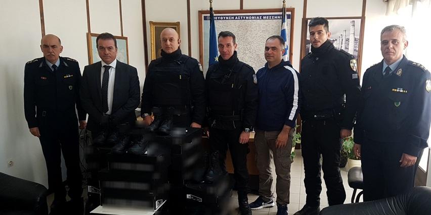 Δωρεά ειδών υπόδησης για τις ανάγκες της Ομάδας Δίκυκλης Αστυνόμευσης (ΔΙ.ΑΣ.) της Διεύθυνσης Αστυνομίας Μεσσηνίας 16