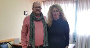 Ο Στάθης Γυφτάκης στην Αντιπεριφερειάρχη Πελοποννήσου κα Αντωνία Μπούζα