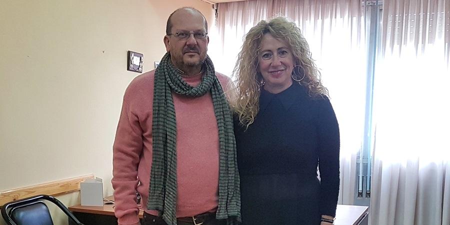 Ο Στάθης Γυφτάκης στην Αντιπεριφερειάρχη Πελοποννήσου κα Αντωνία Μπούζα 4