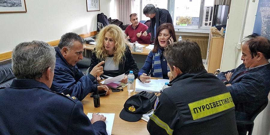 Συνάντηση Νικολάκου, Μπούζα,  με εκπροσώπους Αστυνομίας και Πυροσβεστικής τα ακραία καιρικά φαινόμενα που πλήττουν τη Μεσσηνία. 48