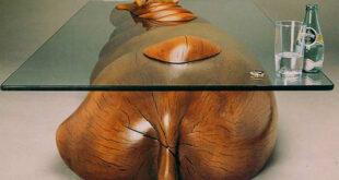 Καλλιτέχνης δημιουργεί ευφάνταστα τραπέζια που θυμίζουν ζώα βυθισμένα στο νερό