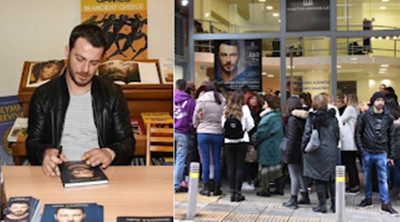 Ουρές κόσμου έξω από το βιβλιοπωλείο για να τους υπογράψει ο… Ντάνος το βιβλίο του (Photos) 9