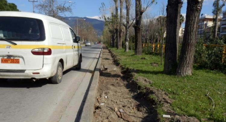 Πεζοδρόμιo 1.500 μέτρων κατασκευάζεται στην οδό Αρτέμιδος 2