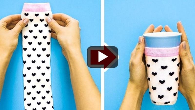 Δείτε τι μπορείτε να κάνετε με ένα ζευγάρι κάλτσες (vid) 5