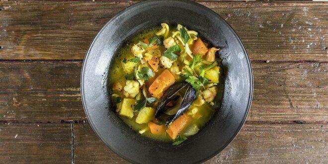 Σούπα θαλασσινών με λαχανικα Συστατικά