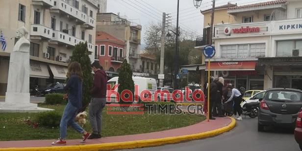Αυτοκίνητο παρέσυρε και τραυμάτισε γυναίκα στην Πλατεία 23ης Μαρτίου στην Καλαμάτα 15