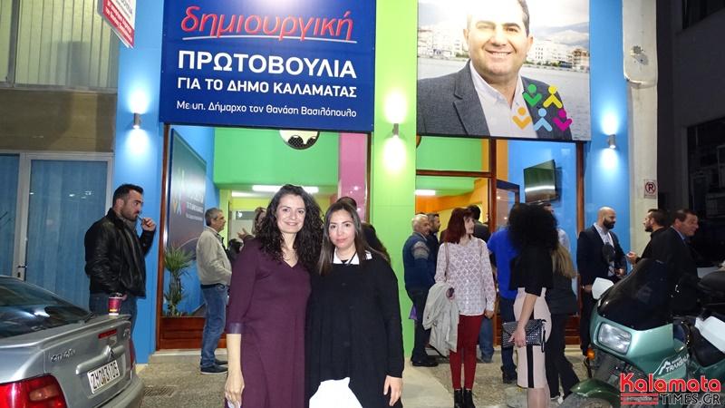 Ο Θανάσης Βασιλόπουλος παρουσίαση 4 νέων υποψήφιων αλλα και τον γραφείων του συνδυασμού του 9