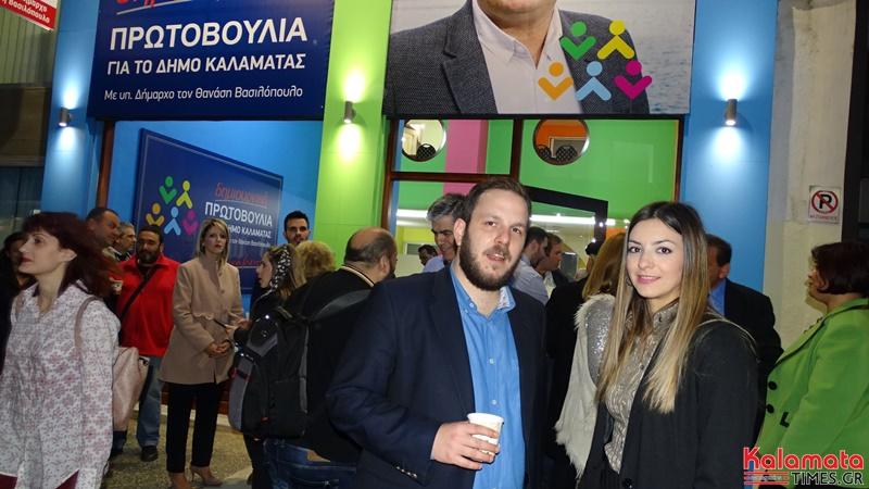 Ο Θανάσης Βασιλόπουλος παρουσίαση 4 νέων υποψήφιων αλλα και τον γραφείων του συνδυασμού του 4