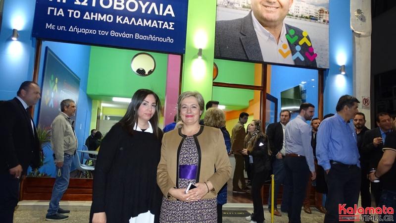 Ο Θανάσης Βασιλόπουλος παρουσίαση 4 νέων υποψήφιων αλλα και τον γραφείων του συνδυασμού του 5