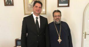 Ο Γιώργος Αθανασόπουλος πήρε την ευλογία του Σεβασμιοτάτου Μητροπολίτη Μεσσηνίας κ.κ. Χρυσοστόμου