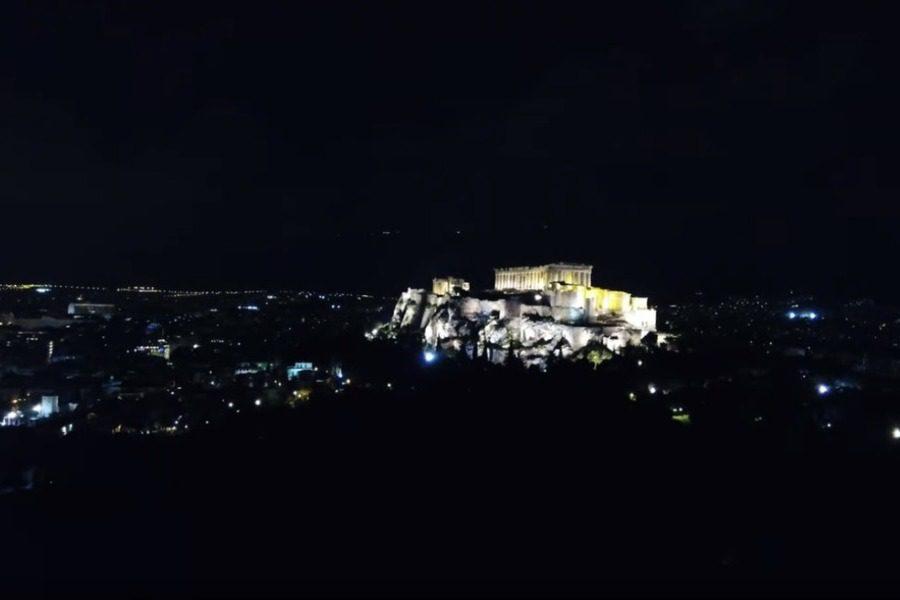 Η απίθανη στιγμή που η Ακρόπολη βυθίστηκε στο σκοτάδι 9