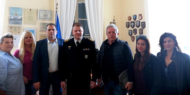 Θανάσης Βασιλόπουλος: επίσκεψη σε Λιμεναρχείο και Νοσοκομείο Καλαμάτας 1
