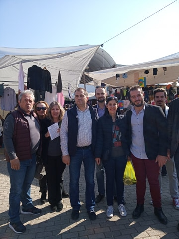 Θ. Βασιλόπουλος: Επίσκεψη στην Αθηνών και στην Λαϊκή Αγορά της Αγ. Τριάδος
