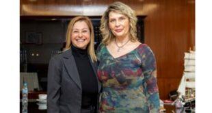 Συνάντηση της Υφυπουργού Προστασίας του Πολίτη Κατερίνας Παπακώστα-Σιδηροπούλου με την Καλλιρρόη Πετροπούλου