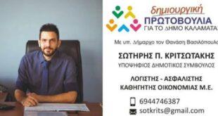 Σωτήρης Κριτσωτάκης Υποψήφιος Δημοτικός Σύμβουλος με τον Θανάση Βασιλόπουλο