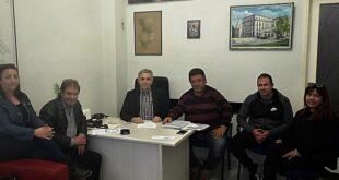 Μέλη συνδυασμού από το Ασπρόχωμα στα γραφεία του «Ανοιχτού Δήμου»
