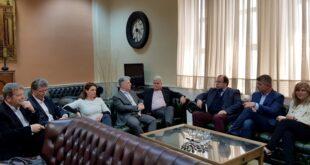 Β. Τζαμουράνης επίσκεψη στον πρόεδρο του Δικηγορικού Συλλόγου Καλαμάτας