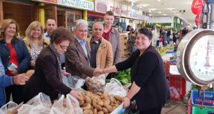 """Β. Τζαμουράνης: Στην Κεντρική Αγορά Καλαμάτας με μέλη του συνδυασμού """"Πρότυπος Δήμος"""""""