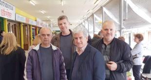 Ο Βασίλης Τζαμουράνης επισκέφτηκε την Κεντρική Αγορά Καλαμάτας