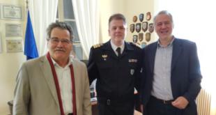 Ο Μιχάλης Αντωνόπουλος επισκέφτηκε το Αρχηγείο του Λιμενικού Σώματος Καλαμάτας
