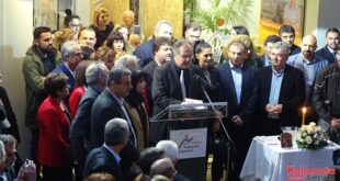 Βασίλης Κοσμόπουλος: Κοσμοσυρροή στα εγκαίνια του εκλογικού κέντρου
