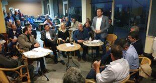 Ο Θανάσης Βασιλόπουλος επισκέφτηκε και μίλησε με κατοίκους της Βέργας