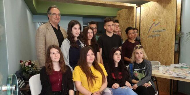 Βασίλης Κοσμόπουλος: Συνάντηση με μαθητές της Β' Λυκείου του 2ουΛυκείου Καλαμάτας