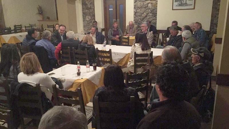 Ο Βασίλης Κοσμόπουλος με υποψηφίους του συνδυασμού του, επισκέφτηκαν τον Σύλλογο Αρτοποιών