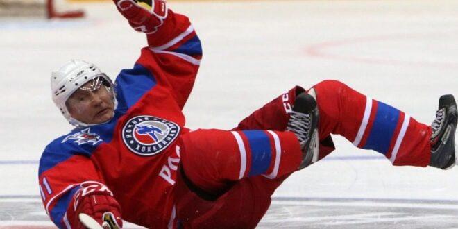 Ντροπιαστική τούμπα για τον Πούτιν σε αγώνα χόκεϊ (κι ας έβαλε 8 γκολ)