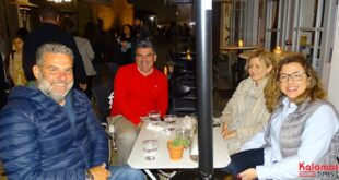Γιώργος Λαζαρίδης και Κώστας Ανδριανόπουλος στο Ιστορικό κέντρο Καλαμάτας
