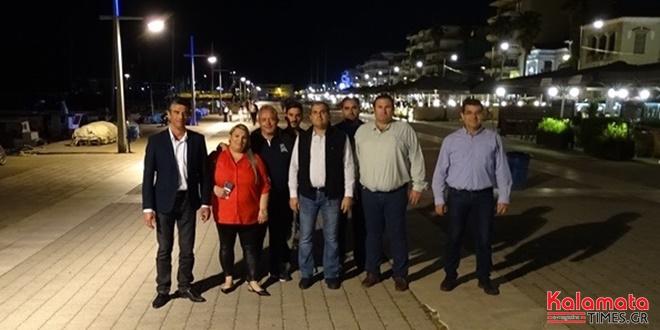 Θανάσης Βασιλόπουλος: Περιοδεία στην παραλιακή με μέλη του συνδυασμού 1
