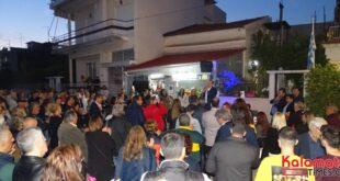 Θανάσης Βασιλόπουλος: Προεκλογική συγκέντρωση στην Αγία Τριάδα μπροστά στο πατρικό του