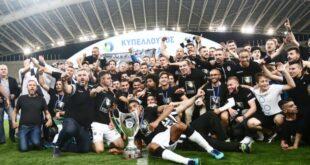 ΠΑΟΚ -ΑΕΚ 1-0 Για πρώτη φορά στην ιστορία τους νταμπλούχοι