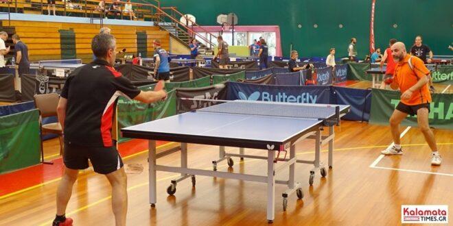 Αποτελέσματα από το 10ο Πανελλήνιο πρωτάθλημα Πινγκ Πονγκ στην Καλαμάτα