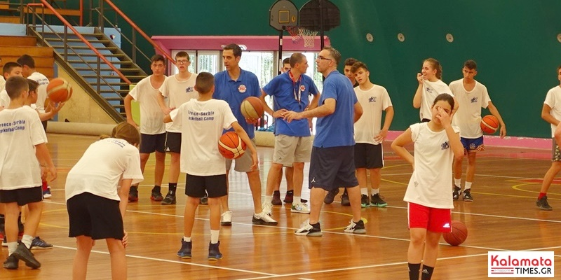 Ο Νίκος Χατζής στο Basketball Summer Camp της kalamata bc 18