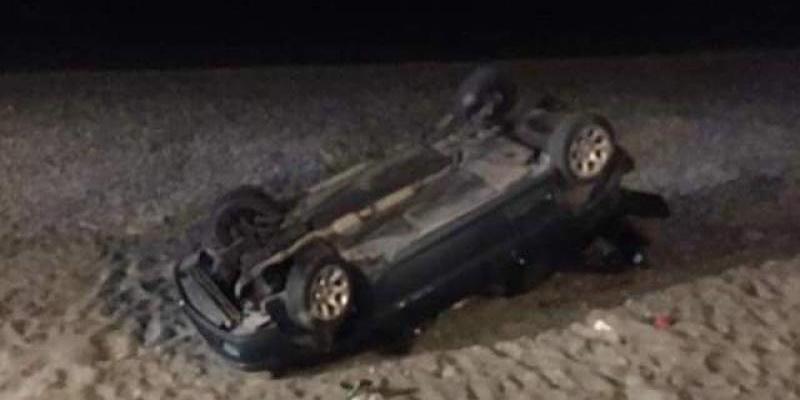 Απίστευτο... ξημερώματα Γαλάζιας Νύχτας αυτοκίνητο ντελαπάρισε στην παραλία 1