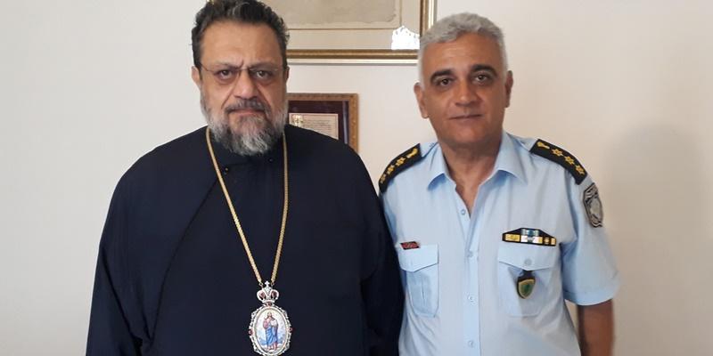Στο Μητροπολίτη Μεσσηνίας ο Νέος Διευθυντής Αστυνομίας Ηλίας Αξιοτόπουλος 1