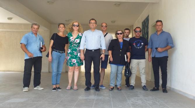 Ο νέος δήμαρχος Καλαμάτας Θανάσης Βασιλόπουλος στο μουσικό σχολείο 16