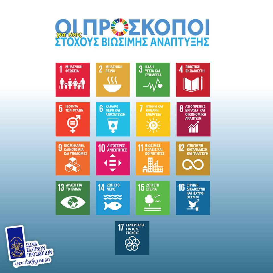 Οι Πρόσκοποι πρεσβευτές των Στόχων Βιώσιμης Ανάπτυξης του ΟΗΕ 2