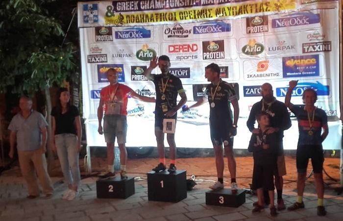 2ος ο καλαματιανός ποδηλάτης Β. Μυστριώτης του Ευκλή στα Σέρβια Κοζάνης. 7
