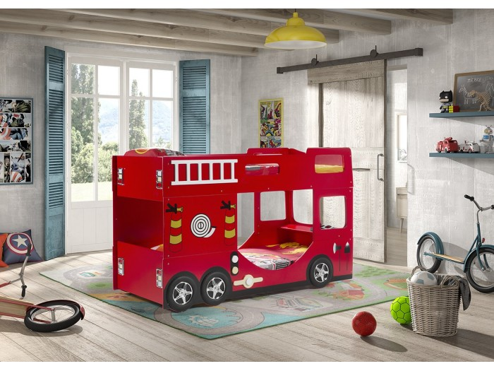 Παιδική κουκέτα πυροσβεστικό όχημα θα ζωντανεύει την φαντασία του μικρού σας ήρωα 3