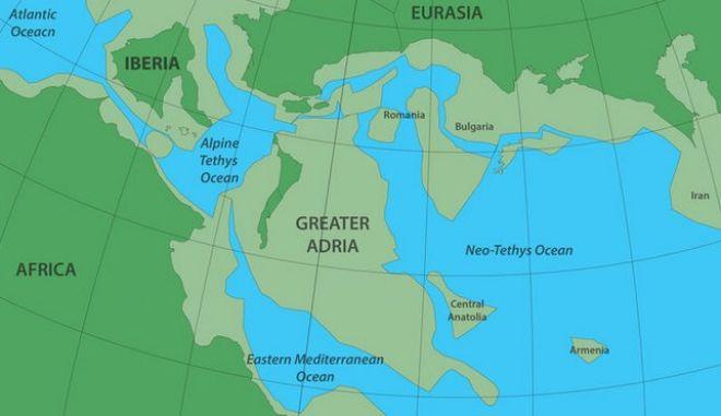 """Αδρία: Η πραγματική """"χαμένη Ατλαντίδα"""" κάτω από Ελλάδα και Νότια Ευρώπη 1"""