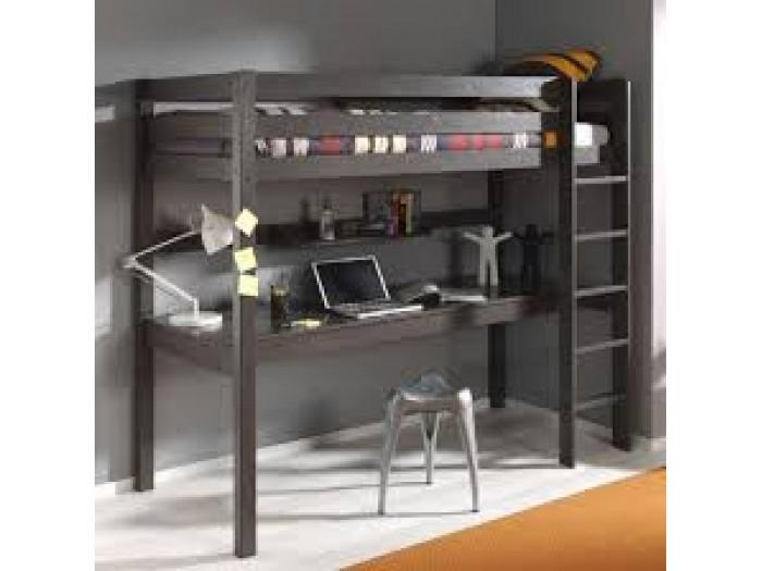 max-kids για το παιδικό δωμάτιο: Υπερυψωμένο κρεβάτι με συρόμενο γραφείο 2