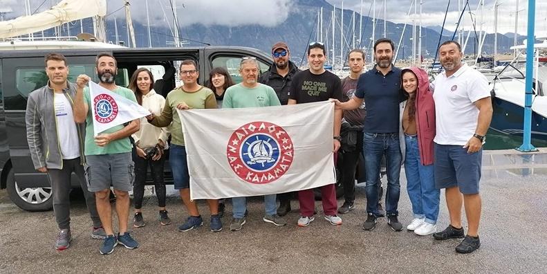 11 ιστιοπλόοι του Αιόλου συμμετέχουν στην μεταφορά τεσσάρων σκαφών στο Λαύριο 1
